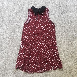 FOREVER 21 collared red floral dress